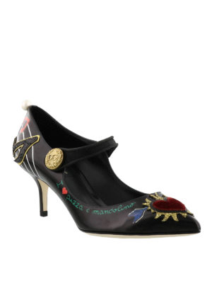 Dolce & Gabbana: court shoes online - Printed leather Bellucci Mary Janes