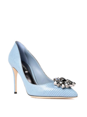 Dolce & Gabbana: court shoes online - Printed leather jewel pumps
