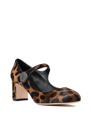 Dolce & Gabbana: court shoes online - Vally haircalf Mary Jane pumps