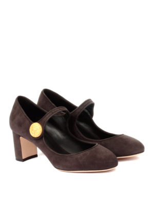 Dolce & Gabbana: court shoes online - Vally suede Mary Jane pumps