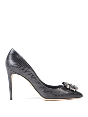 Dolce & Gabbana: court shoes - Printed leather jewel pumps