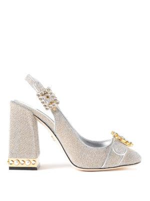 DOLCE & GABBANA: scarpe décolleté - Slingback gioiello in soft lurex