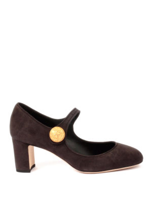 Dolce & Gabbana: court shoes - Vally suede Mary Jane pumps