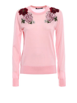 Dolce & Gabbana: crew necks - Cashmere embroidered sweater