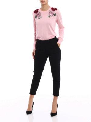Dolce & Gabbana: crew necks online - Cashmere embroidered sweater