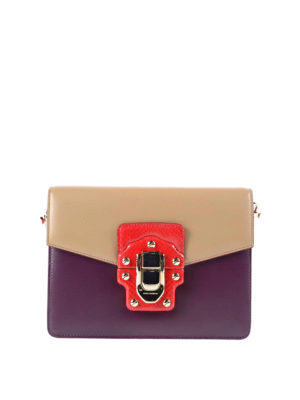 Dolce & Gabbana: cross body bags - Brushed leather Lucia crossbody