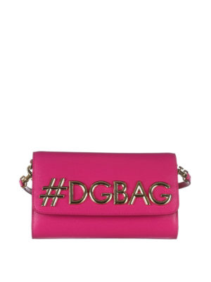 Dolce & Gabbana: cross body bags - DG Girls dauphine leather bag