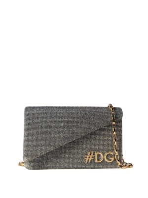 Dolce & Gabbana: cross body bags - DG Girls lamé cross body bag