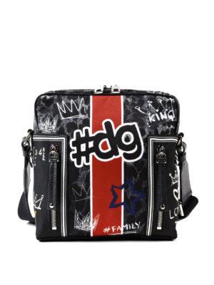 DOLCE & GABBANA: borse a tracolla - Borsa animalier con stampa graffiti