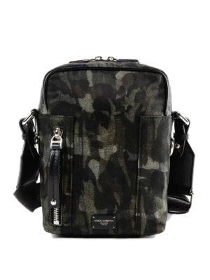 DOLCE & GABBANA: borse a tracolla - Borsa a tracolla in nylon camouflage