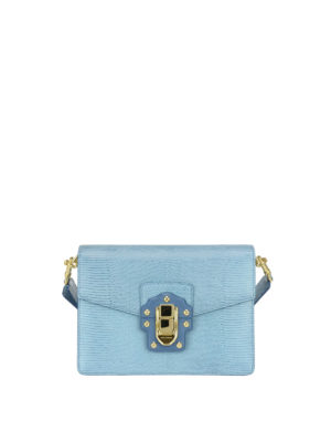Dolce & Gabbana: cross body bags - Iguana print leather Lucia bag
