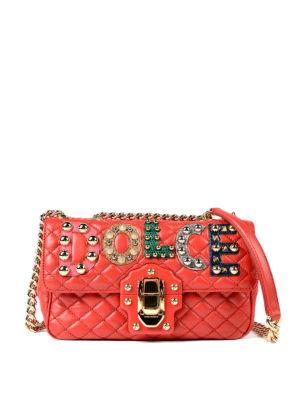 Dolce & Gabbana: cross body bags - Lucia embellished cross body bag