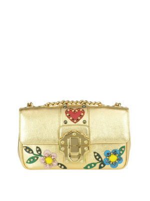 Dolce & Gabbana: cross body bags - Lucia embellished leather bag