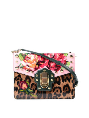 Dolce & Gabbana: cross body bags - Lucia printed and embellished bag