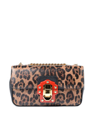 Dolce & Gabbana: cross body bags - Lucia printed leather bag
