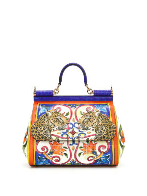 Dolce & Gabbana: cross body bags - Maiolica and animal print Sicily M