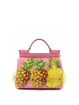 Dolce & Gabbana: cross body bags - Medium Sicily pineapple crossbody
