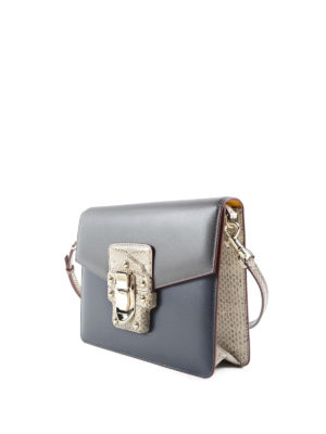 Dolce & Gabbana: cross body bags online - Brushed leather Lucia crossbody