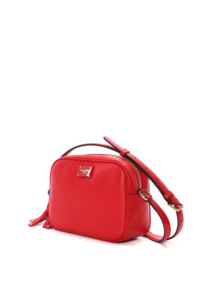 Dolce & Gabbana: cross body bags online - Glam pompon detailed leather bag