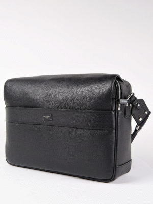 Dolce & Gabbana: cross body bags online - Grained leather messenger bag