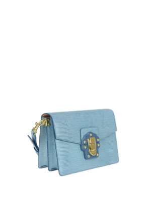 Dolce & Gabbana: cross body bags online - Iguana print leather Lucia bag