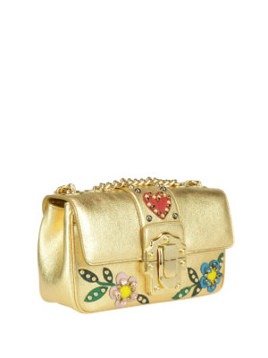 Dolce & Gabbana: cross body bags online - Lucia embellished leather bag