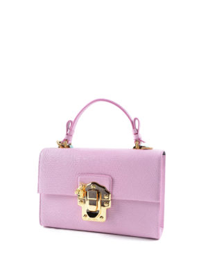 Dolce & Gabbana: cross body bags online - Lucia iguana effect leather satchel