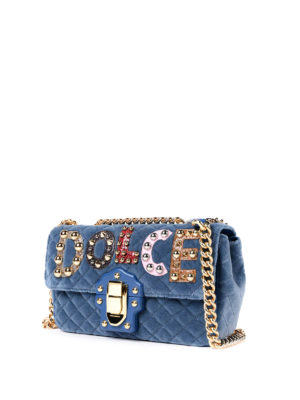 Dolce & Gabbana: cross body bags online - Lucia quilted velvet bag