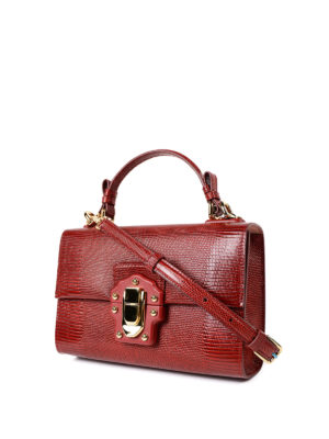 Dolce & Gabbana: cross body bags online - Lucia red leather cross body bag