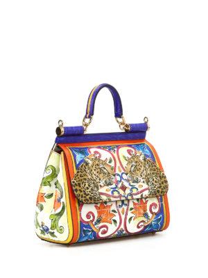 Dolce & Gabbana: cross body bags online - Maiolica and animal print Sicily M