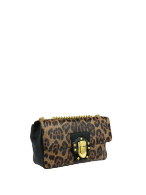 Dolce & Gabbana: cross body bags online - Mini Lucia leather bag