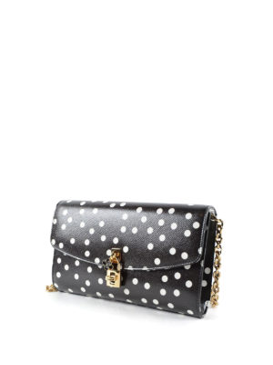 Dolce & Gabbana: cross body bags online - Polka dot leather crossbody
