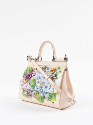 Dolce & Gabbana: cross body bags online - Sicily hydrangea print small bag