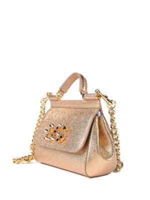 Dolce & Gabbana: cross body bags online - Sicily Mini leather clutch