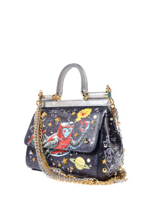 Dolce & Gabbana: cross body bags online - Sicily printed dauphine medium bag