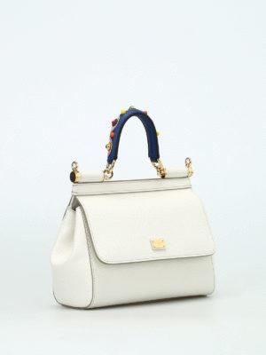 Dolce & Gabbana: cross body bags online - Sicily S adorned handle crossbody