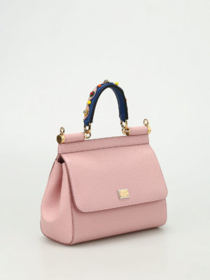 Dolce & Gabbana: cross body bags online - Sicily small leather bag