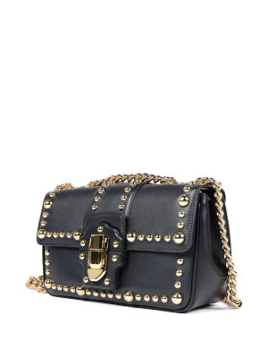 Dolce & Gabbana: cross body bags online - Studded leather Lucia bag