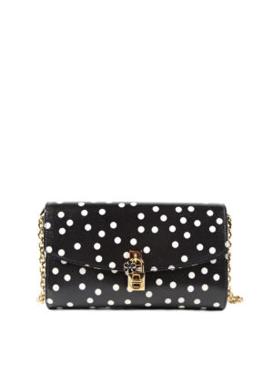 Dolce & Gabbana: cross body bags - Polka dot leather crossbody