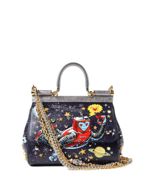 Dolce & Gabbana: cross body bags - Sicily printed dauphine medium bag