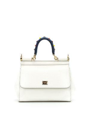 Dolce & Gabbana: cross body bags - Sicily S adorned handle crossbody