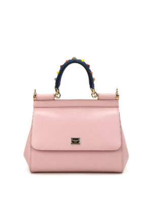 Dolce & Gabbana: cross body bags - Sicily small leather bag