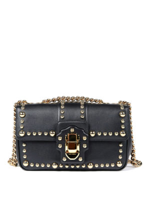 Dolce & Gabbana: cross body bags - Studded leather Lucia bag