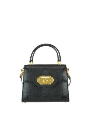 Dolce & Gabbana: cross body bags - Welcome iguana print leather bag