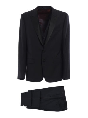 Dolce & Gabbana: dinner suits - Virgin wool three-piece tuxedo