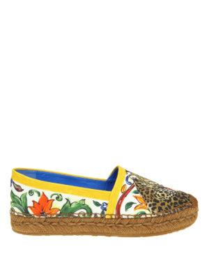 Dolce & Gabbana: espadrilles - Majolica and Leo cotton espadrilles