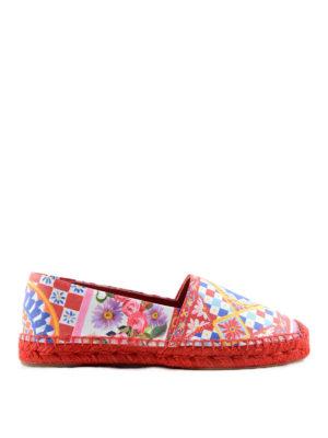 Dolce & Gabbana: espadrilles - Mambo print nappa espadrilles