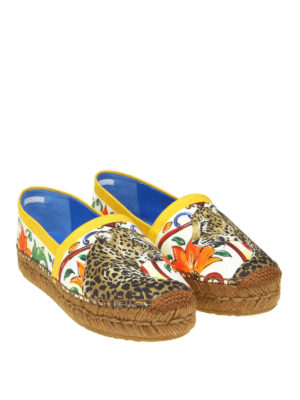 Dolce & Gabbana: espadrilles online - Majolica and Leo cotton espadrilles