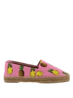 Dolce & Gabbana: espadrilles - Pineapple brocade espadrilles