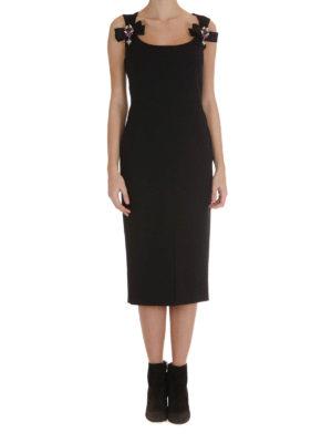 Dolce & Gabbana: evening dresses online - Jewel bows detail wool sheath dress